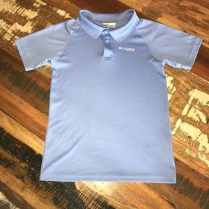 Columbia Boys Polo Blue Medium